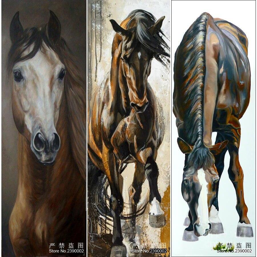 5D DIY Diamantové malování zvířat Plné plakáty Ikona Diamantový kříž Steh Mozaika Dekorativní malba Diamant Vyšívací kůň