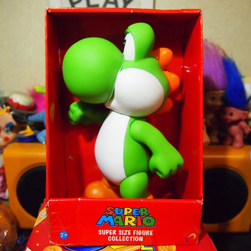 26cm PVC Super Mario bros. games - Yoshi action figure statue toy gifts for kids Anime F ...