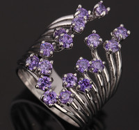 Smooth Small 12 Pcs Purple Amethyst Overlay 925 Sterling Silver High Quality Women S Jewelrys US
