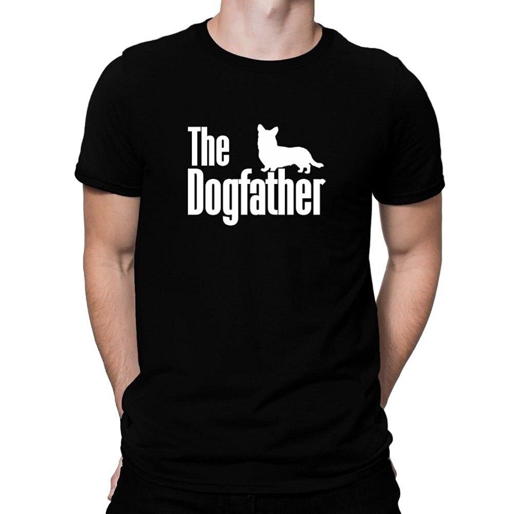 Fashion 2017 New font b Men s b font The dogfather Cardigan Welsh Corgi Short Sleeve