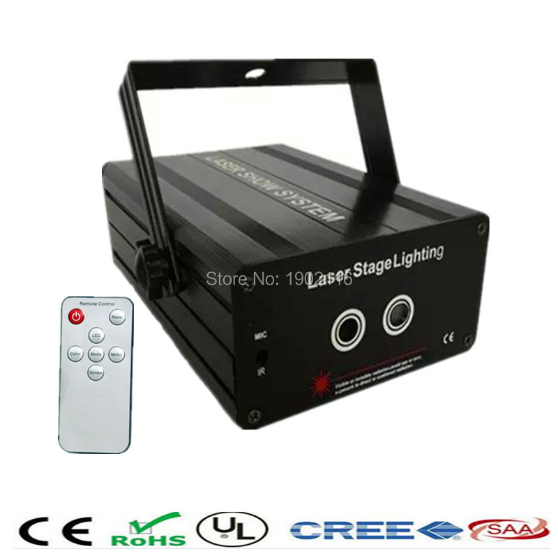 ФОТО Amazing Remote RG 24 partters DJ Laser Stage Lighting Effect Laser Projector Red Green Party Disco Led Stage Light Entertainment