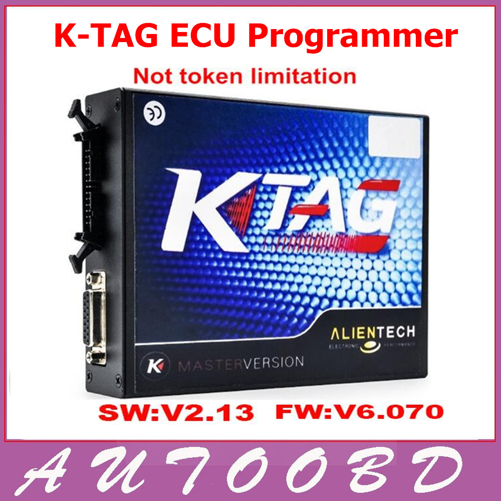 ФОТО New KTAG V2.13 Unlimited Version ECU Programmer K-TAG Hardware V6.070 No Tokens Limited K TAG V2.13 Master ECU Chip Tuning Tool