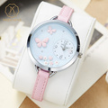 Miss Keke Girls Female Cartoon Watch Clay 3D Butterfly Flower Leather Quartz Watches Students Children Wrist Watch 818 ofertas