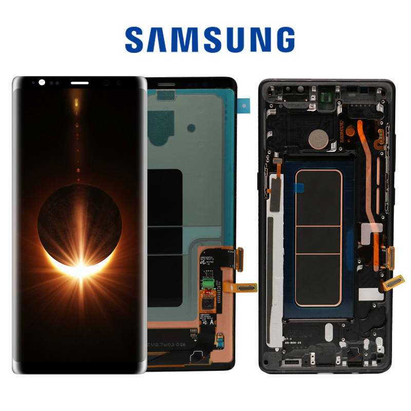 SUPER AMOLED 6 3 Display with Burn Shadow LCD for SAMSUNG GALAXY Note8 N9500 N950F Display SUPER AMOLED 6.3'' Display with Burn Shadow LCD  for SAMSUNG GALAXY Note8 N9500 N950F Display Touch Screen Digitizer Assembly