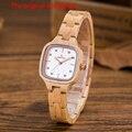 Топ деревянные часы женские деревянные кварцевые часы квадратная пластина аналоговые часы Япония MIYOTA Кварцевые Спортивные 2035 Часы