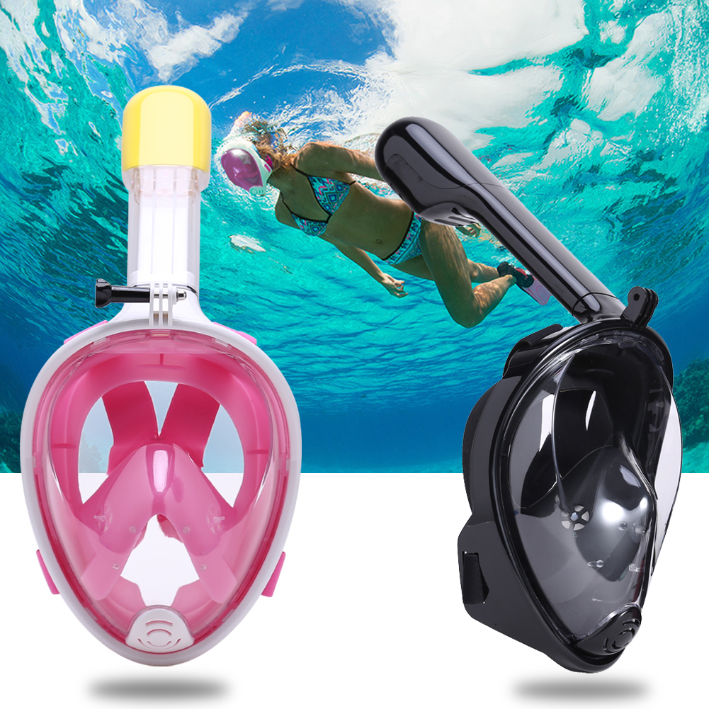 Antifog Diving <font><b>Mask</b></font> <font><b>Full</b></font> Face Snorkeling <font><b>Mask</b></font> Scuba Diving Swimming Snorkel <font><b>Mask</b></font> Breather Pipe Spearfishing Underwater Sports