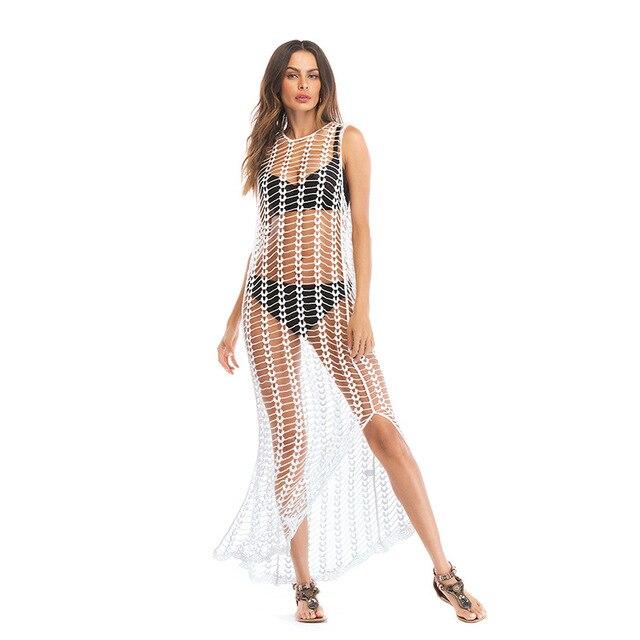 33461d9739e7 Vestido de playa Sexy Sling ropa vestido Bikini Sarong cubierta ups Wrap  Pareo faldas toalla traje baño