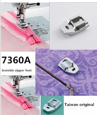 Household Sewing Machine Parts Presser Foot HM-7306A Invisible Zipper Foot for singer brother janome juki toyota