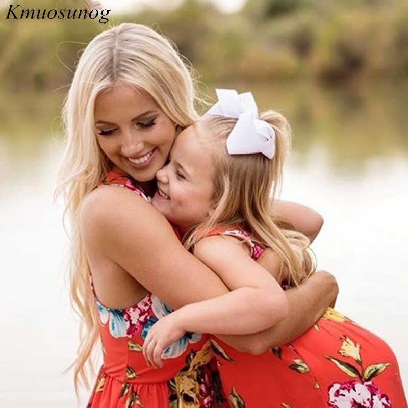 Family matching clothes Slim Pocket Boho Floral Long Dress Mom and daughter dress mama mom and daughter matching clothes C0331 in Matching Family Outfits from Mother Kids