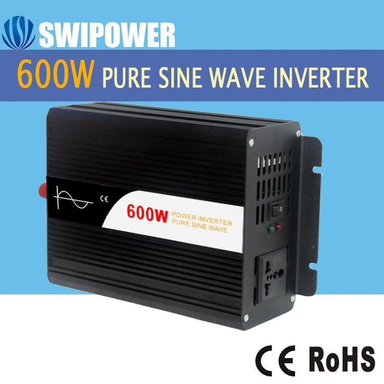 600 W pur puissance d'onde sinusoïdale onduleur solaire DC 12 V 24 V 48 V à AC 110 V 220 V