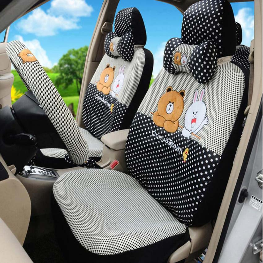Brown and Cony car seat cover