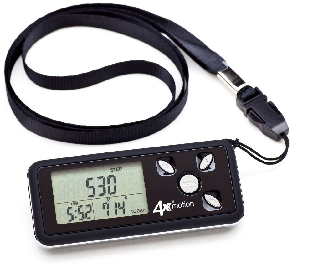 4x3motion Digital Pocket 3D-pedometer med tre-akse-teknologi