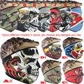 Envío libre Más Nuevo Balaclava Campana La Cara Llena de Máscaras De Fantasmas Cráneo Balaclava Ciclismo Esquí Capucha de Entrenamiento de Esquí Máscara de Halloween