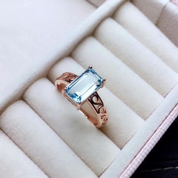 shilovem 925 silver sterling rings natural topaz open trendy fine Jewelry  anniversary new wholesale 6*10mm mj061069agb