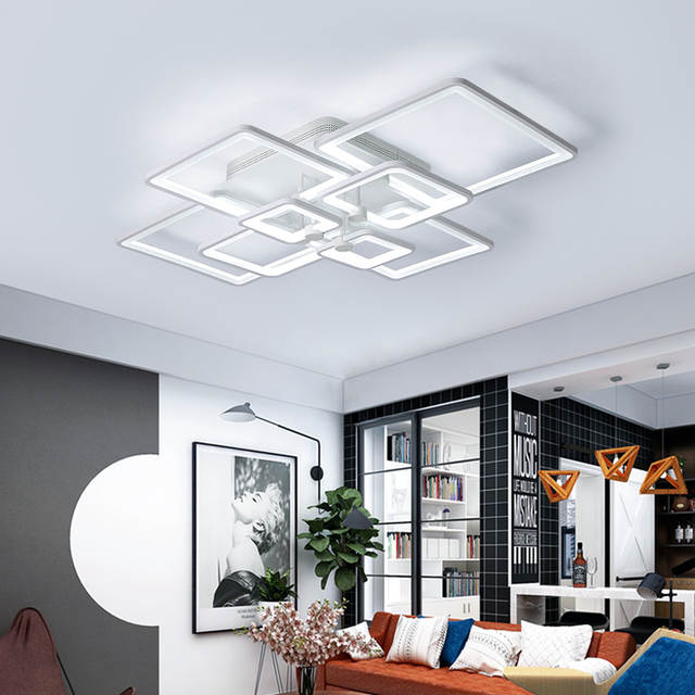 Abajur Direct Selling Ce Ac The New Rectangle Acrylic Led Ceiling ...