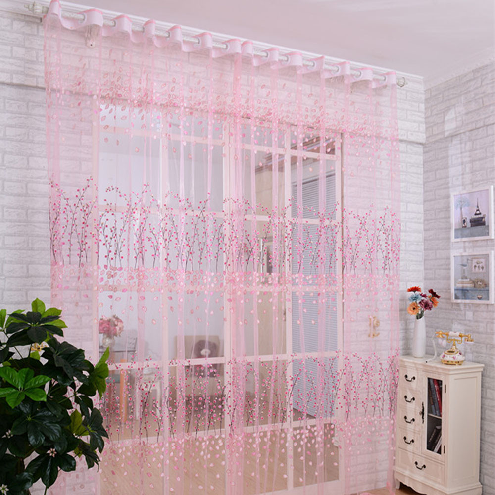 Sheer plum curtains - Modern Curtains For Living Room Plum Blossom Window Screens Door Balcony Curtain Panel Sheer Cover Tulle