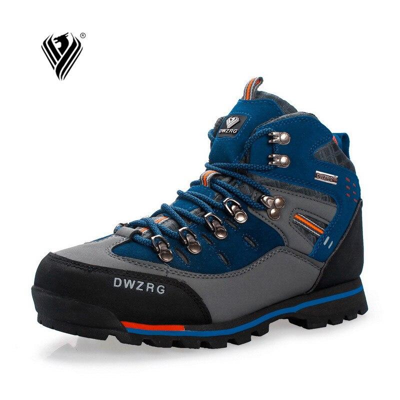 Chaussures de randonnée pour hommes chaussures en cuir imperméables chaussures d'escalade et de pêche nouvelles chaussures de plein air populaires - 2