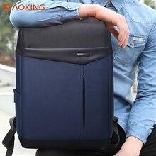 Aoking Wasserdicht Männer Rucksack Studenten Koreanische Mode Tasche Laptop Rucksack Für 13,3 bis 15 zoll Schulranzen
