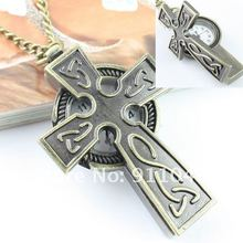 Free shipping cross necklace watch,Women's men's necklace watch 50pcs/lot wholesale,Gift Watch Fast Delivery