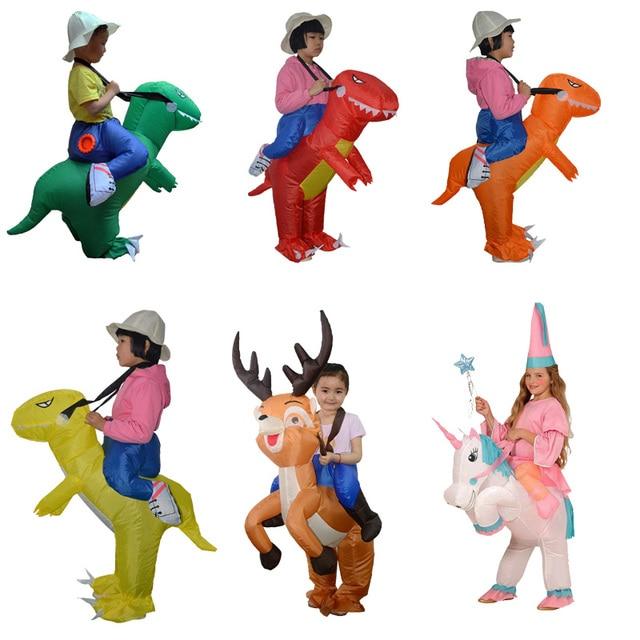 Children Dinosaur Cosplay Inflatable Costume Holiday Anime Dino Halloween Party Birthday gift Halloween costume for kids