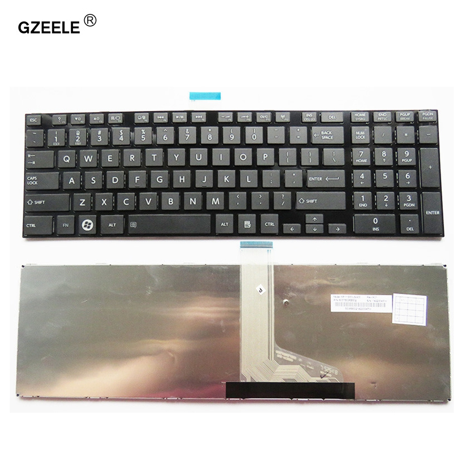 GZEELE NEW laptop keyboard for TOSHIBA for SATELLITE C850 C850D C855 C855D L850 L850D L855 L855D L870 L870D US notebook keyboard new case cover for toshiba satellite l850 l855 c850 c855 c855d palmrest cover without touchpad laptop bottom base case cover