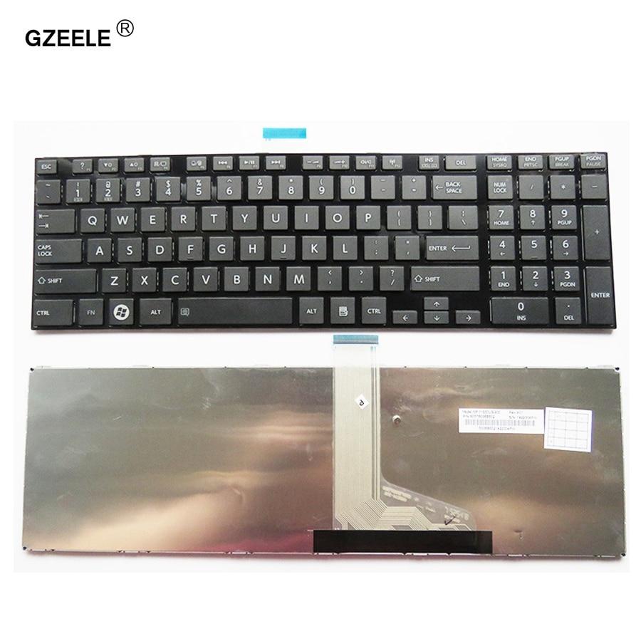 Galleria fotografica GZEELE NUOVA tastiera del computer portatile per <font><b>TOSHIBA</b></font> SATELLITE C850 C850D C855 C855D L850 L850D L855 L855D L870 L870D US notebook tastiera