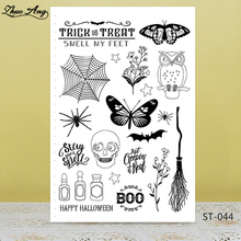 Halloween Elements Clear Silicone Stamp/Seal for DIY Scrapbooking/Photo Album Decorative Card Making Stamps