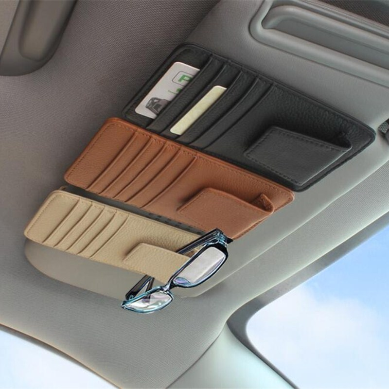 Fashion car sun glasses case name card credit For Audi VW BMW Ford Fiat Mazda Toyota Peugeot Volvo Lexus Maserati Mitsubishi