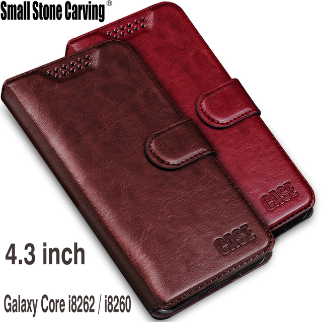 For Samsung Galaxy Core gt-i8262 case flip leather cover for samsung I8260 I8262 GT-I8262 8260 GT i8262 8262 case phone cover
