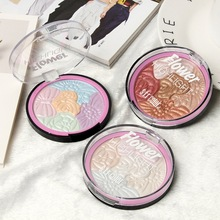 Colorful Highlighter Face Makeup Powder Cheek Color Brozer Comestics Contour Blush woman Cosmetic