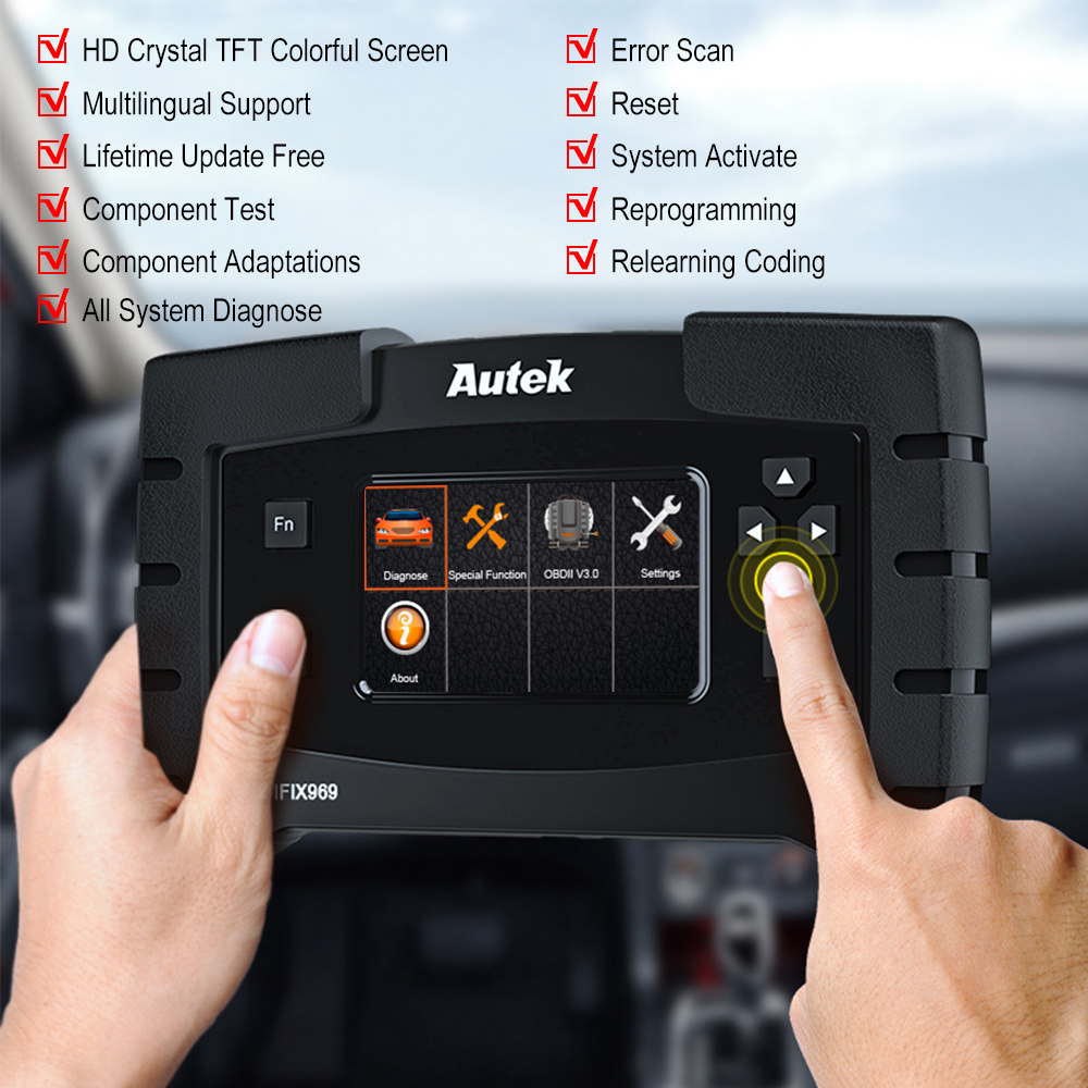 Image 2 - Autek IFIX 969 OBD2 Automotive Scanner Full System Diagnostic Engine Airbag ABS SRS EPB SAS ESP TPMS OBD OBD 2 Car Scanner Tool-in Code Readers & Scan Tools from Automobiles & Motorcycles on