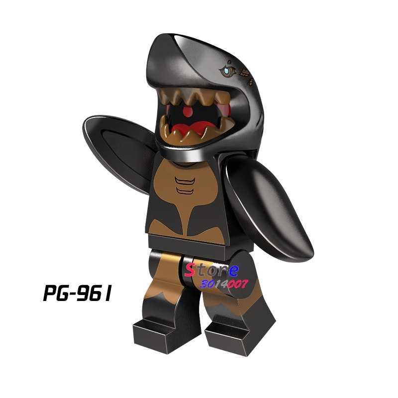 1 PCSGhost Zumbi Homem Tubarão Série Coleção Piratas do Caribe modelos blocos de construção de tijolos brinquedos para as crianças