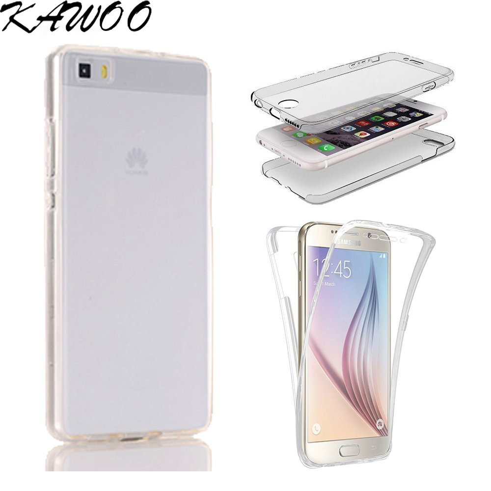 P8 Lite Clear TPU 360 degree Full Body Protective Clear Rubber Soft Case Cover for Huawei P9 Lite P10 Lite P10 Plus P9 Capa