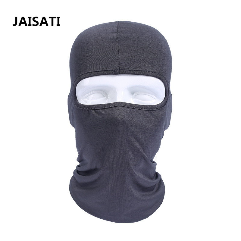 JAISATI New half face steel mesh protective mask tactical mask live CS tactical competition protective mask skull style half face mask old silvery