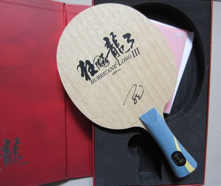 Original NEW DHS Hurricane Långt 3 professionellt bordtennisblad speciellt för världsmästaren Mr Ma Long
