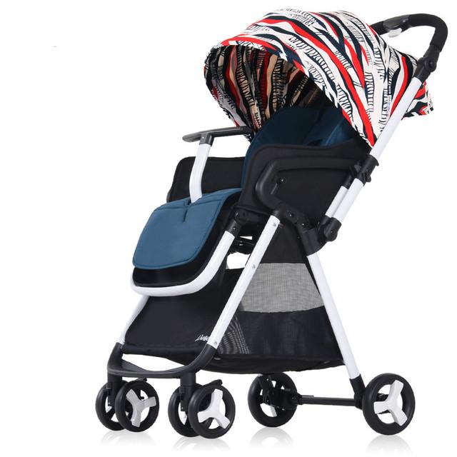 Venta caliente Plegable Cochecito de Bebé Súper Ligero de Alta Paisaje Sentado Reclinable Bebé Carro de Cuatro Ruedas A Prueba de Golpes