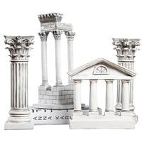European Style Retro Ancient Rome Creative Architectural Model Decoration Home Furnishing column building model Statue figurine