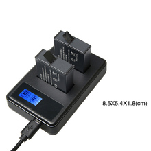 LCD Dual USB Battery Charger For Gopro Hero 5 Action Camera