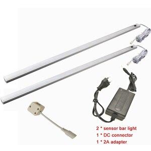 Image 3 - Lámpara led de 50CM con Sensor de movimiento PIR, luz nocturna para debajo del armario, armario, 12V CC, Blanco/blanco cálido