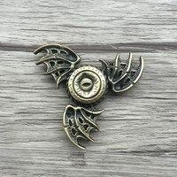 Game Of Thrones EDC Fidget Toys Bat Triangular Hand Spinner Toy Metal Hand Spinner Tri Spinner