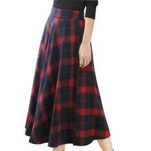 2016 Plaid Skirt Autumn Checked Wollen Skirts for Women Saia Grade Faldas Mujer Women Casual Skirt S1521