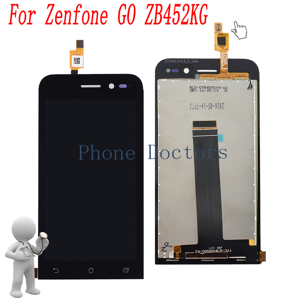4.5 inch Full LCD DIsplay+Touch Screen Digitizer Assembly For Asus Zenfone GO ZB452KG X014D ...