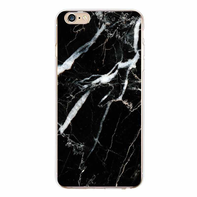 Marmur miękkie przezroczysty TPU etui na telefony dla iPhone 4/4S 5 5S 6 6 plus 7 8 plus dla iPhone x przypadku silikonowe Fundas pokrywa darmowa wysyłka