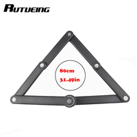 RUTVEING Bicycle Folding Steel Plate Bike Combination In Lock Alloy Steel Anti theft Black Lock 800 g Universal Locks