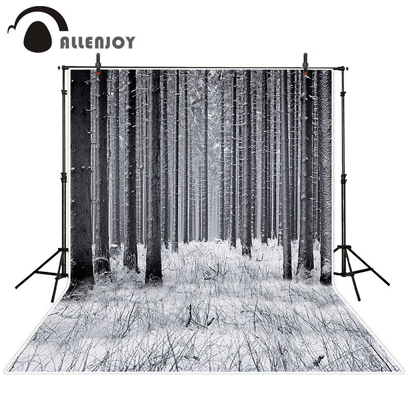 Allenjoy photographic background Snow tree forest backdrops princess kids photocall Send folded 10ft*20ft allenjoy photographic background shovel excavators construction crane car kids backdrops send rolled camera fotografica wall
