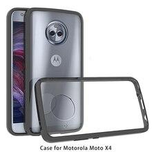 Гибридная Противоударная крышка воздушная подушка рамка чехол для Moto X4 акриловый кристалл прозрачный задний корпус для Motorola Moto X4 Fundas Coque