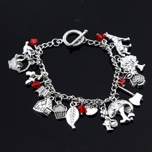 Little Red Riding Hood inspired bracelet Wolf Owl Red Riding Hood Apple bracelet divya srinivasan little owl s audiobook collection