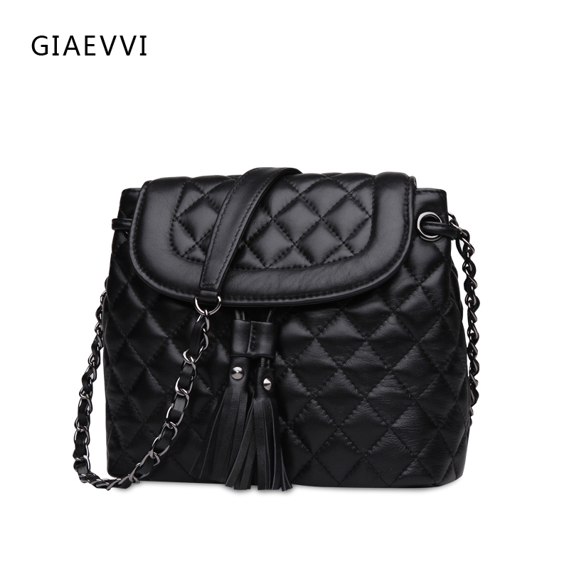 GIAEVVI Women Leather Handbag Luxury Shoulder Bag Genuine Leather Crossbody bags Fashion Tote Designer Handbags High Quality giaevvi luxury handbags split leather tote women messenger bags 2017 brand design chain women shoulder bag crossbody for girls