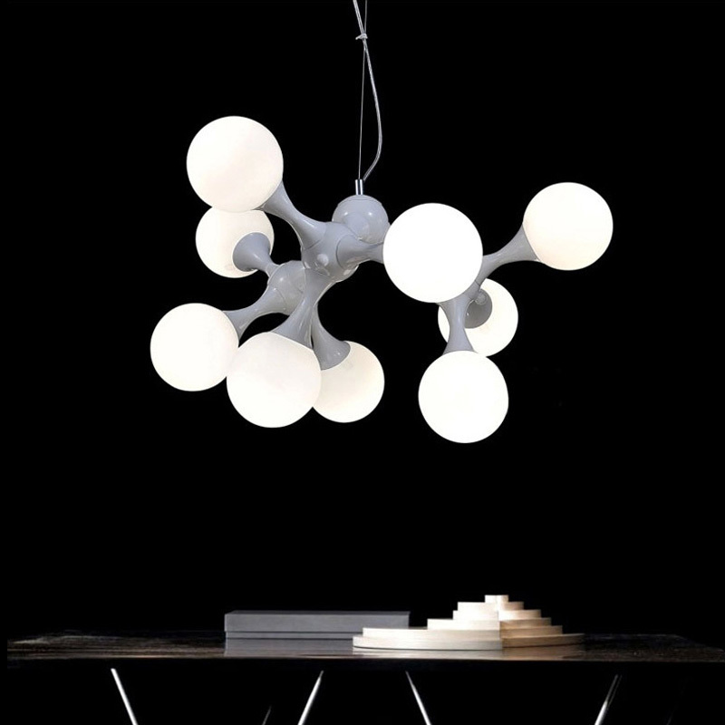 DNA creative glass ball pendant lights fixture modern DIY home decoration dining room iron pendant lamp E27 bulb dna structures part a synthesis and physical analysis of dna 211