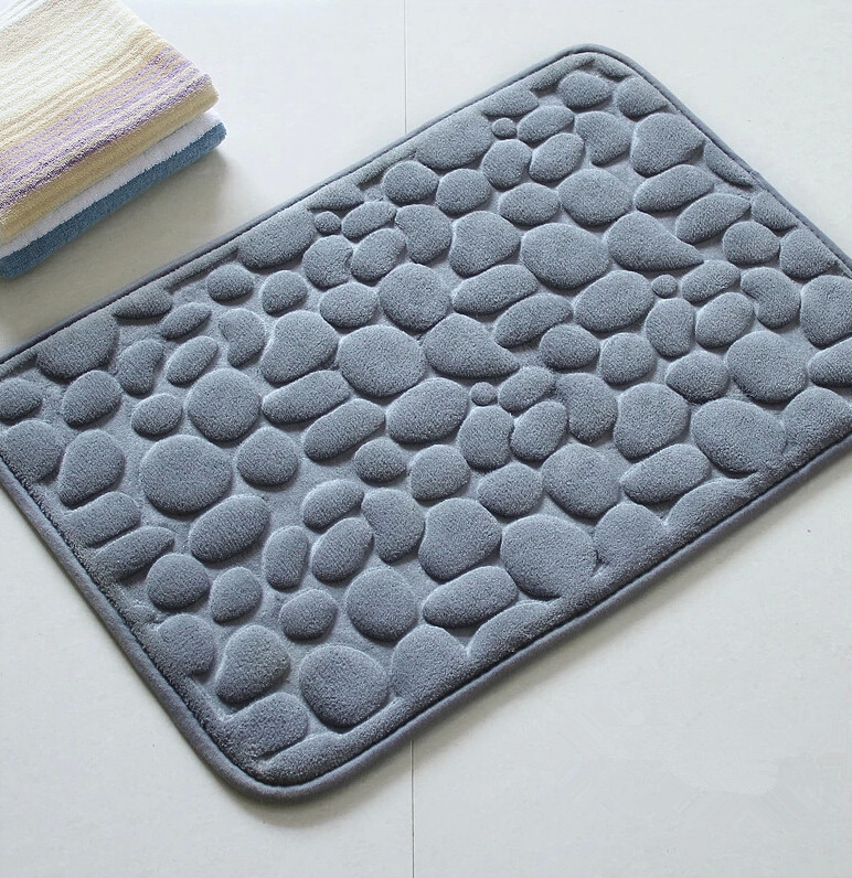 2015 Bath Mat Modern Stone Memory Foam Bath Mats Rug floor mat ...